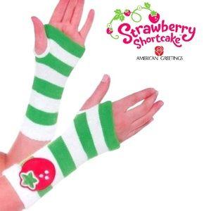 Strawberry Shortcake Hand Warmer Fingerless Gloves